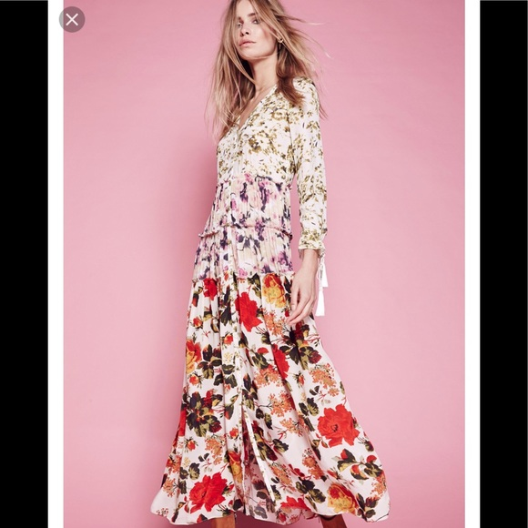 9faa402ce67a Free People Dresses | Iso Mixed Floral Maxi Dress | Poshmark